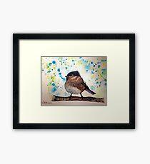 Bird brains Framed Print