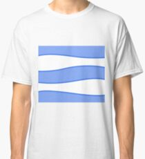 Abstract - blue and white. Classic T-Shirt