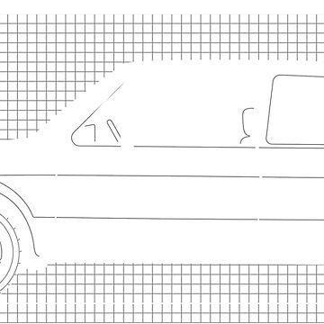 VW Golf Mk1 Blueprint by BlackArtGraphx