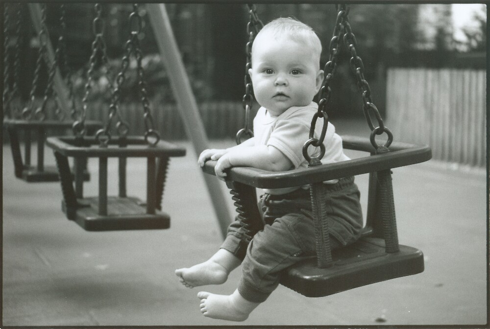 Sally on a Swing - 1998 by Peter Harpley