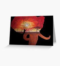 Elephant Sunset Greeting Card