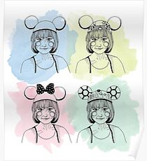 Mouse Ears Mickey Poster