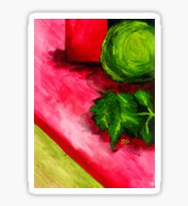 Abstracted Acrylics: Fresh Produce Sticker