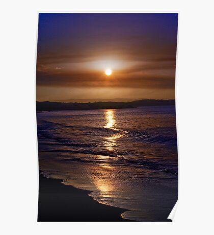 Travel, QLD Sunshine Coast: Sunset on Noosa Beach Poster