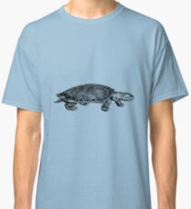 Black and White Turtle Classic T-Shirt