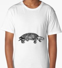 Black and White Turtle Long T-Shirt