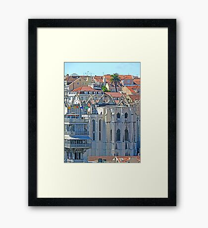 Convento do Carmo. (view from Lisbon castle) Framed Print