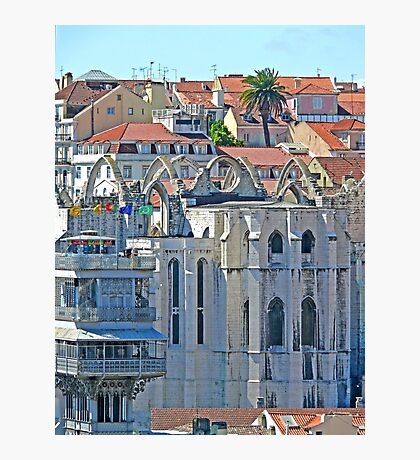 Convento do Carmo. (view from Lisbon castle) Photographic Print