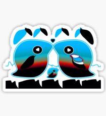 Sunrise Love Birds TShirt Sticker