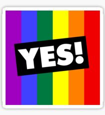 YES! to Australian Marriage Equality (Rainbow) Sticker