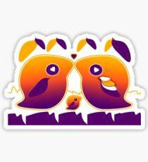 Sunset Love Birds TShirt Sticker