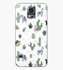 Funda/vinilo para Samsung Galaxy Cactus Llamas