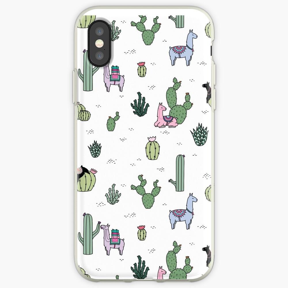 Kakteen Lamas iPhone-Hüllen & Cover