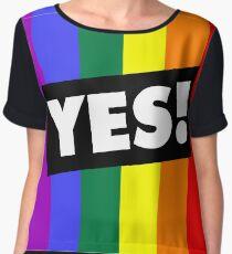 YES! to Australian Marriage Equality (Rainbow) Chiffon Top