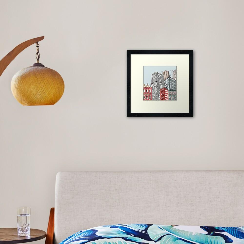 New York iconic view Framed Art Print