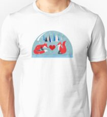 Merry Christmas- winter foxes in love T-Shirt