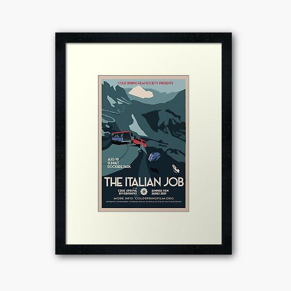 THE ITALIAN JOB: Cold Spring Film Society 2017 Season Poster  Framed Art Print