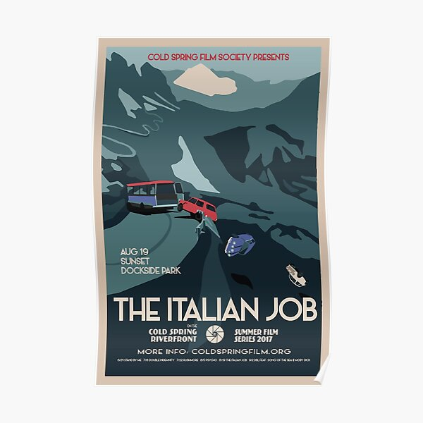 THE ITALIAN JOB: Cold Spring Film Society 2017 Season Poster  Poster