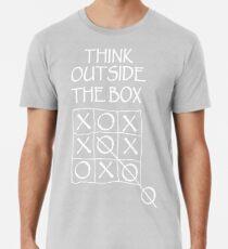 THINK, Fun, Funny, Comic, Joke, Laugh; Think outside the box Premium T-Shirt