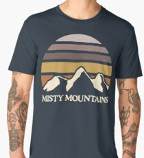 Misty Mountains | Mountain Sun Men's Premium T-Shirt