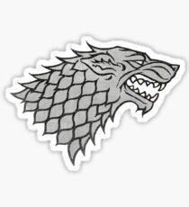 Game of Thrones House Stark Sticker Sticker