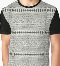 Navajo Rug Geometric black and white | Texture #home #lifestyle Graphic T-Shirt