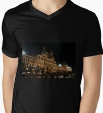 Red Square, Kremlin, Moscow at night  Men's V-Neck T-Shirt
