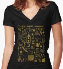 Make Magic Women's Fitted V-Neck T-Shirt