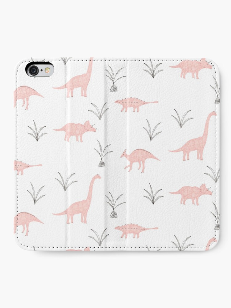 Alternate view of Pink Dinosaurs iPhone Wallet