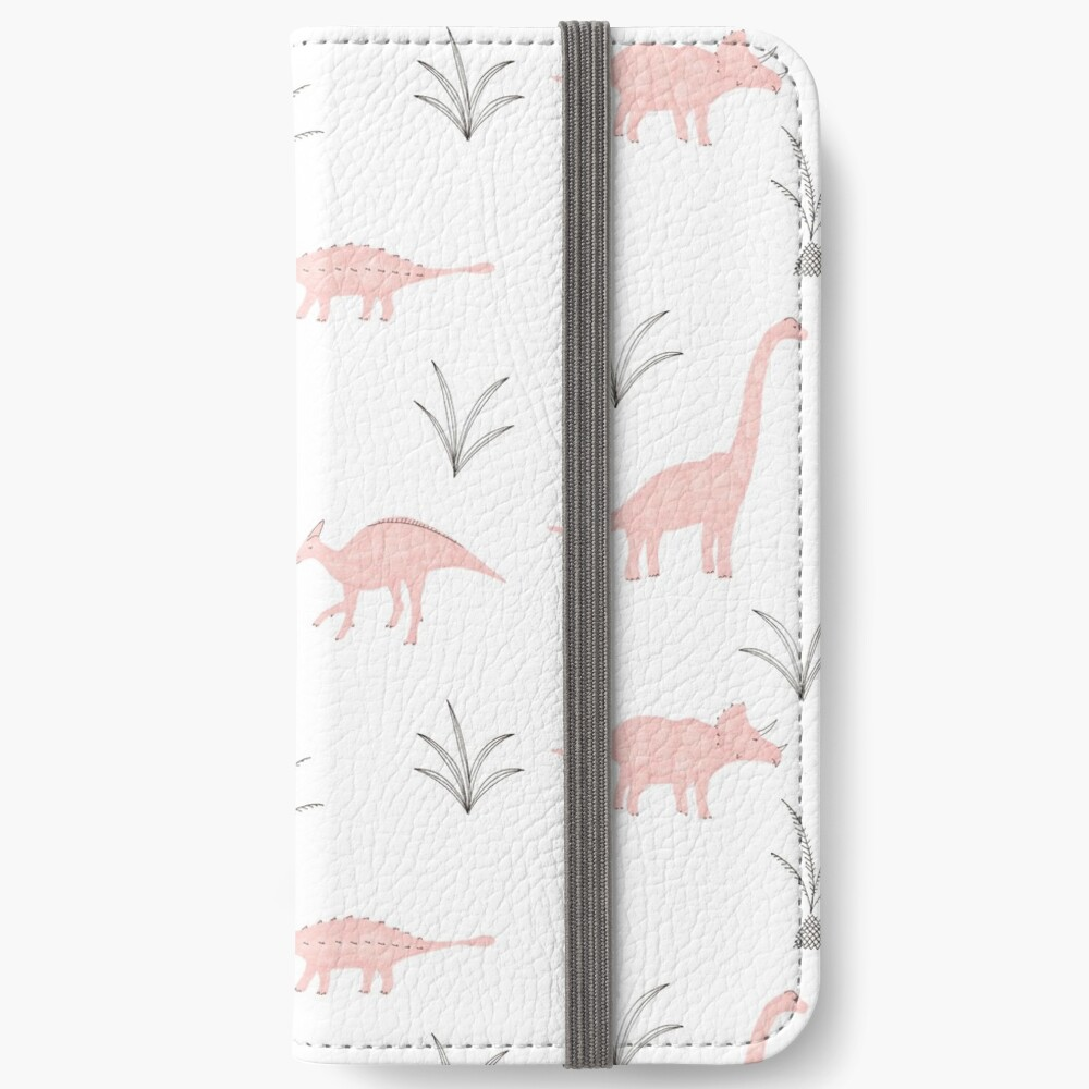 Pink Dinosaurs iPhone Wallet