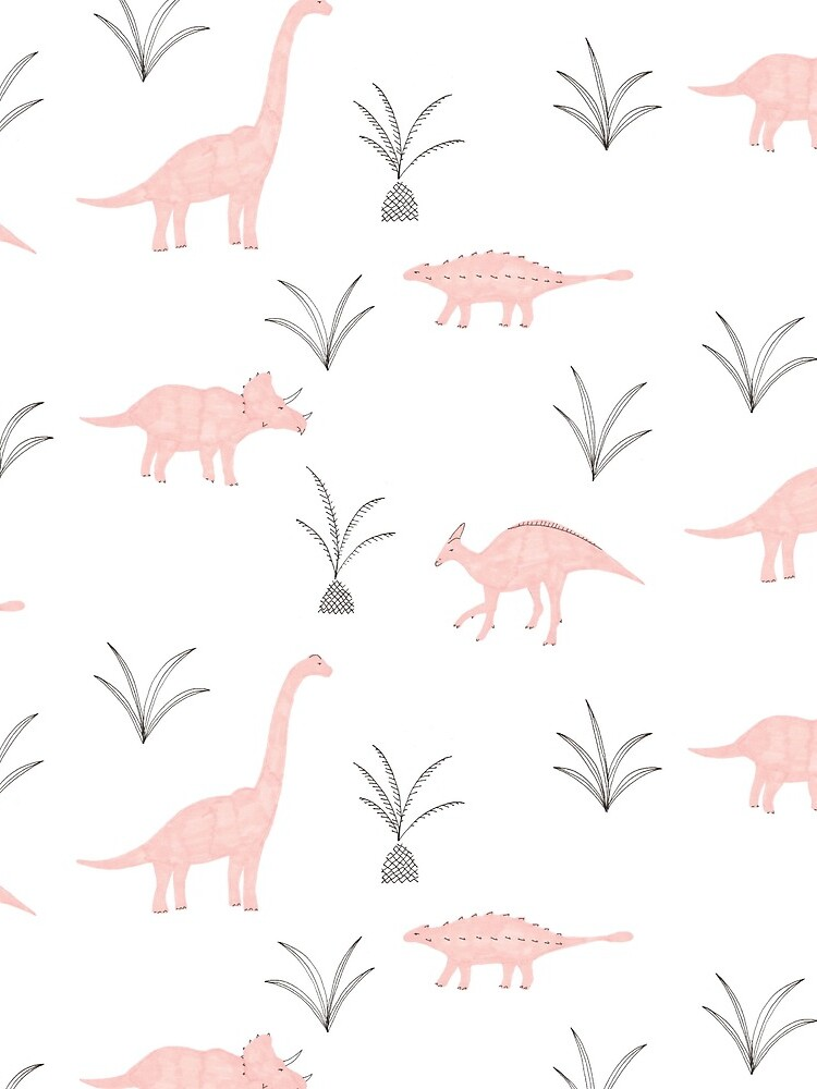 Pink Dinosaurs by lhollyberry