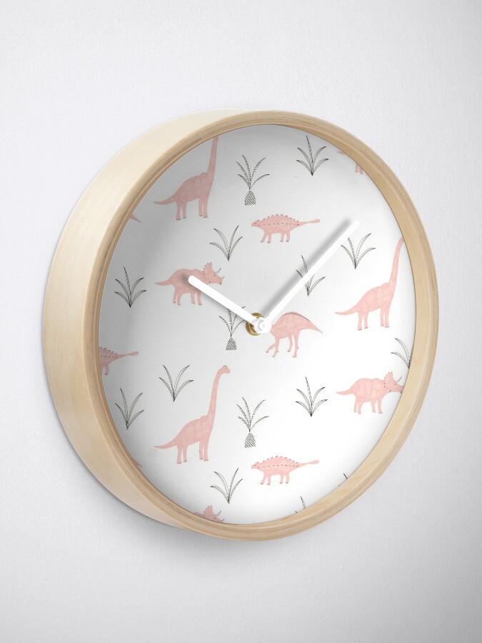 Alternate view of Pink Dinosaurs Clock
