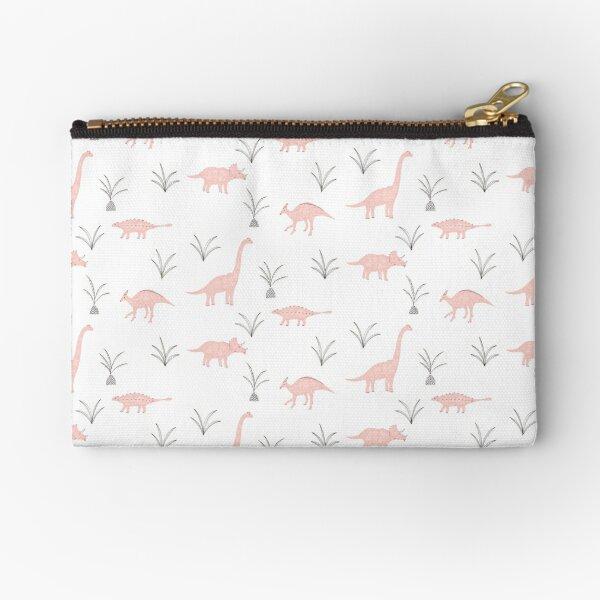 Pink Dinosaurs Zipper Pouch