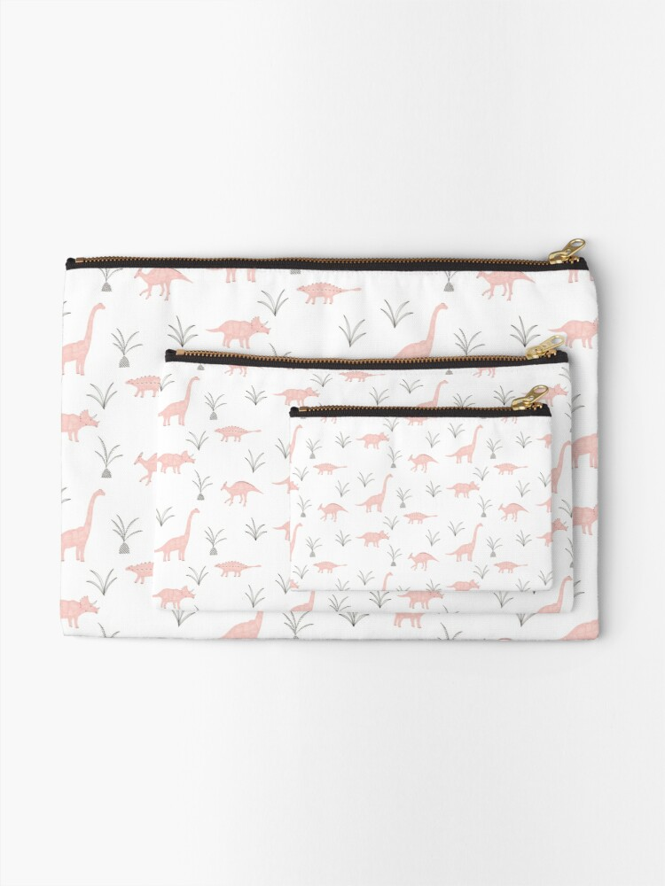 Alternate view of Pink Dinosaurs Zipper Pouch