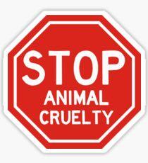 Stop animal cruelty sticker  Sticker