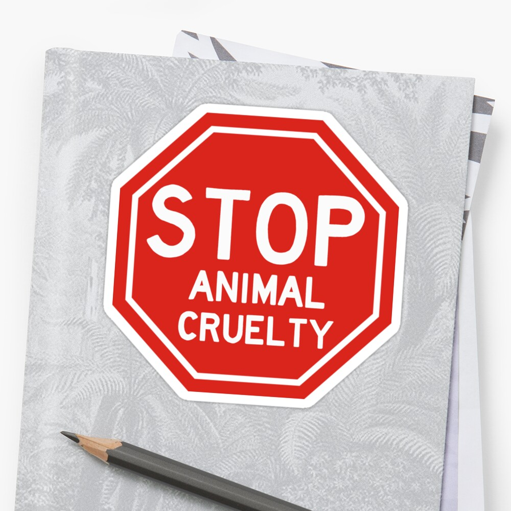 Stop animal cruelty sticker  by NicoleHarvey