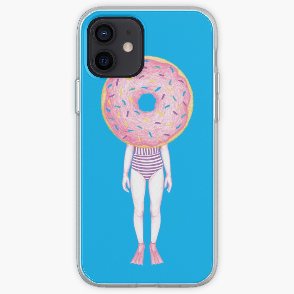 The Summer Treats : Pink Doughnut iPhone Case & Cover