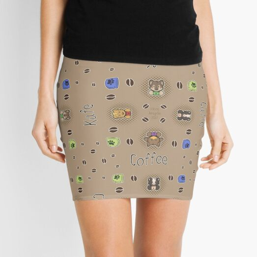 Coffee animals Mini Skirt