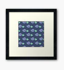 Cute Ocean Whale Pattern Framed Print