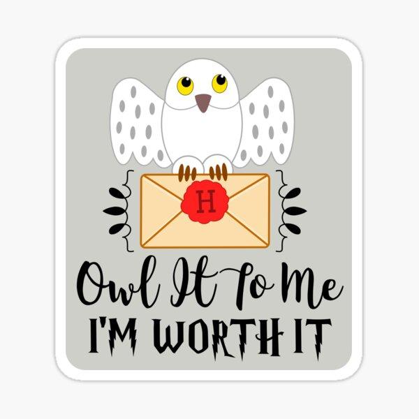 Owl It To Me I'm Worth It Sticker