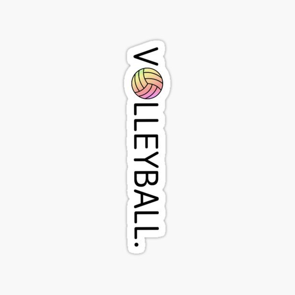 Volleyball. Pink and Yellow Sticker