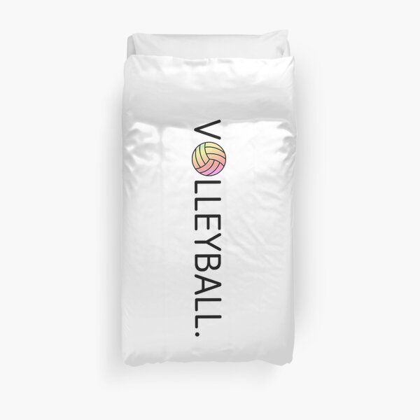 Volleyball. Pink and Yellow Duvet Cover