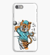 Tiger golfer WITH cap iPhone Case/Skin