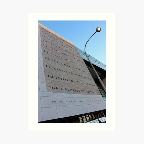 The First Amendment At The Newseum Art Print