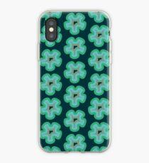 Green Blue Retro Flower | Pattern  iPhone Case
