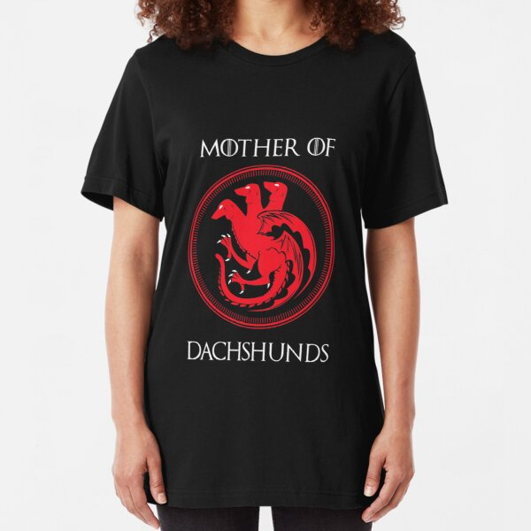 Mother of Dachshund Slim Fit T-Shirt