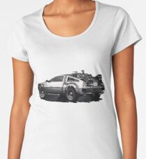 Back to the future Delorean | Cars | Cult Movies Women's Premium T-Shirt