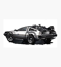 Back to the future Delorean | Cars | Cult Movies Photographic Print
