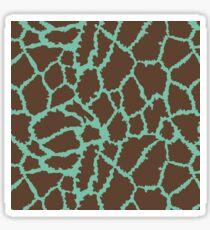 Blue Brown Leopard Skin Texture Sticker
