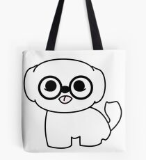 Shih Tzu Puppy with Glasses Tote Bag